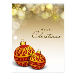 Merry Christmas Red Ball Postcard