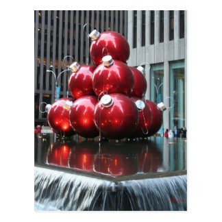 Merry Christmas Red Balls Post Card