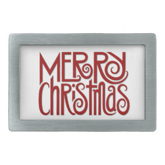 Merry Christmas red Belt Buckle