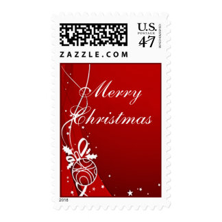 MERRY CHRISTMAS RED by SHARON SHARPE Postage