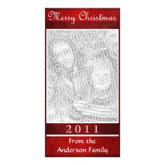 Merry Christmas Red Elegant Simple Custom Card
