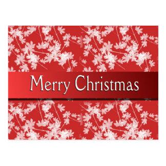 Merry Christmas Red Flower Postcard