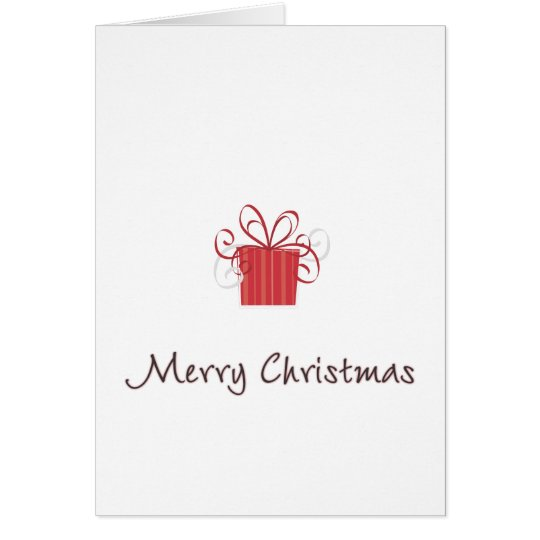 Merry Christmas Red Gift Card