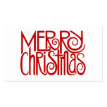 Merry Christmas Red Gift Tag Business Card