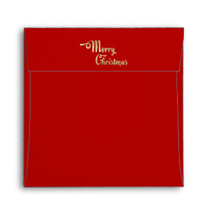 red gold foil christmas stationery envelopes zazzle
