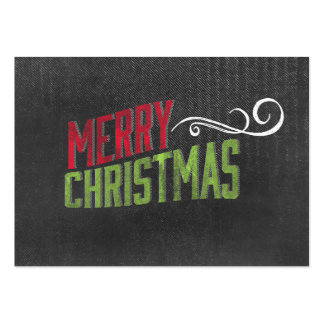 Merry Christmas Red Green Chalkboard Art Business Card