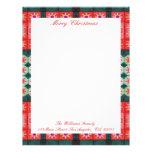 Merry Christmas Red Green Tiles Customized Letterhead