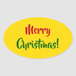 "[ Thumbnail: ""Merry Christmas!"" (Red, Green, Yellow) Sticker ]"