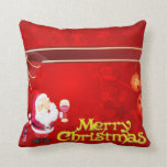 Merry Christmas red illustration Pillows