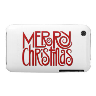 Merry Christmas red iPhone 3G/3GS Case