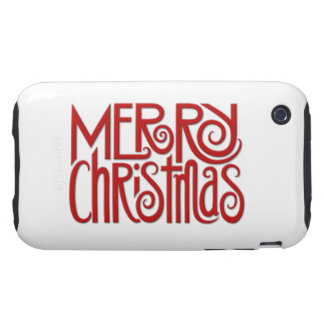 Merry Christmas red iPhone 3G 3GS Tough Case Tough iPhone 3 Covers