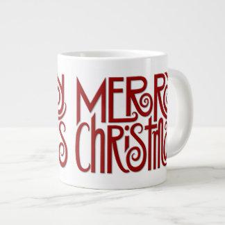 Merry Christmas red Jumbo Mug