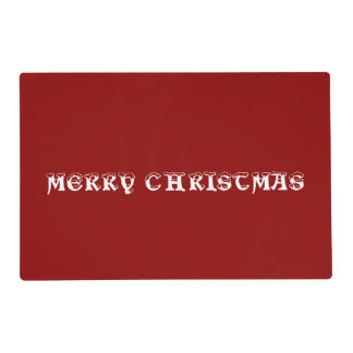 Merry Christmas Red Laminated Placemat