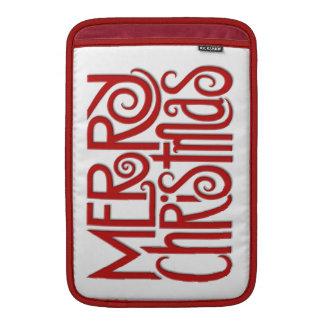 """Merry Christmas red MacBook Air 11"""" Sleeve"""