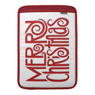 """Merry Christmas red MacBook Air 13"""" Sleeve"""