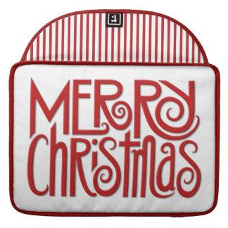 "Merry Christmas red Macbook Pro 15"" Sleeve"