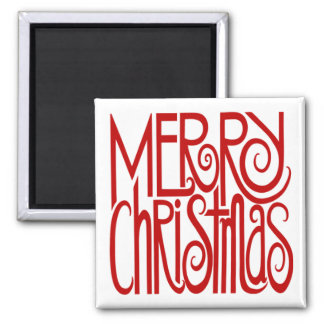 Merry Christmas Red Magnet