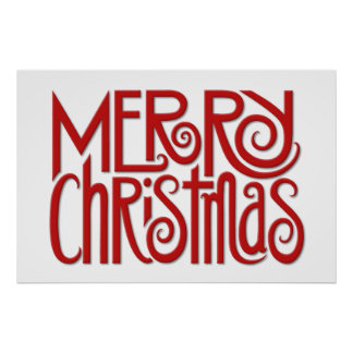 Merry Christmas red Poster