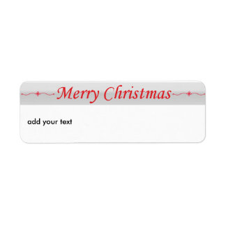 Merry Christmas Red Return Address Labels