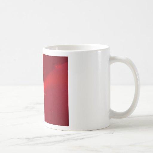 Merry Christmas red ribbon background Coffee Mug