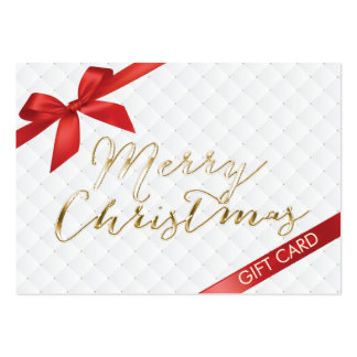 Merry Christmas Red Ribbon Gift Certificate Large Business Card