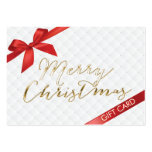Merry Christmas Red Ribbon Gift Certificate Business Card