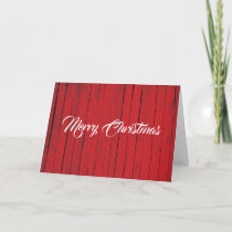 Merry Christmas Red Rustic Barn Holiday