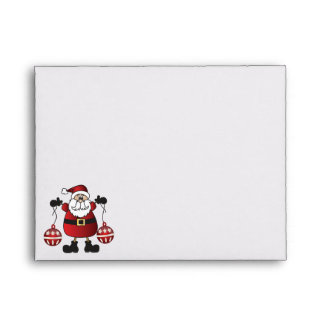 Merry Christmas Red Santa Claus Envelope