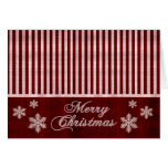 Merry Christmas Red Snowflakes Holiday Card
