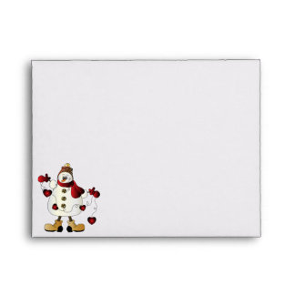 Merry Christmas Red Snowman Envelope