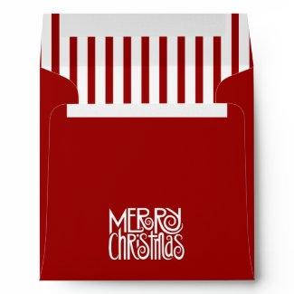 Merry Christmas red Square Envelope envelope