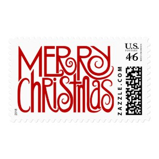 Merry Christmas Red Stamp stamp
