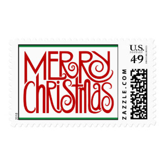 Merry Christmas Red Stamp