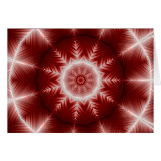 Merry Christmas Red Star Snowflake Card