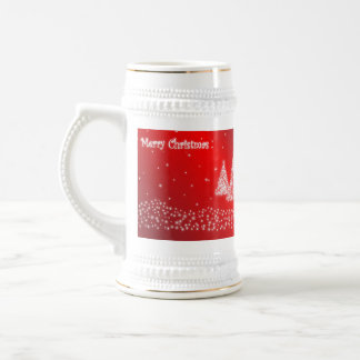 merry christmas red stein 18 oz beer stein