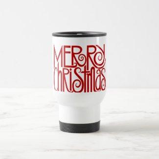 Merry Christmas Red Travel Mug