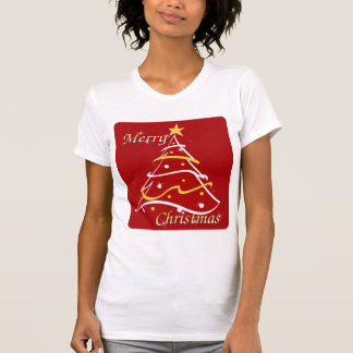 Merry Christmas Red Tree T-Shirt