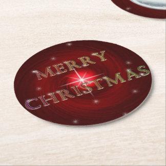 Merry Christmas Red Vortex w/ Star Coaster