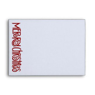 Merry Christmas red white A7 Envelope