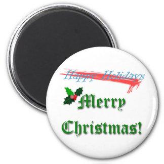 Merry Christmas Refrigerator Magnet
