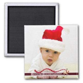 Merry Christmas Reindeer & Block Text Magnet