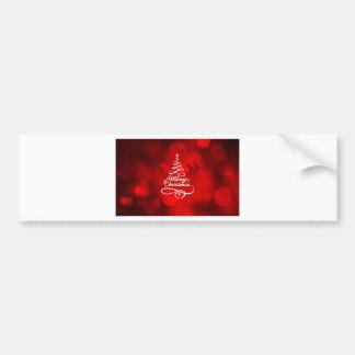 Merry Christmas Reindeer Bumper Sticker