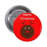Merry Christmas Reindeer Button Party Favors