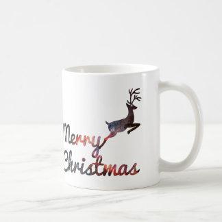 Merry christmas reindeer Classic White Mug