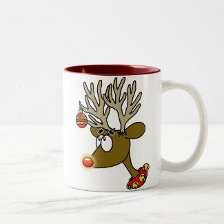 Merry Christmas Reindeer Coffee Cup Coffee Mugs