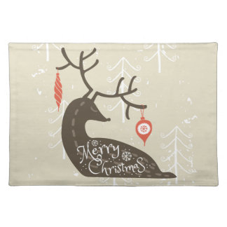Merry Christmas Reindeer Cozy Placemat