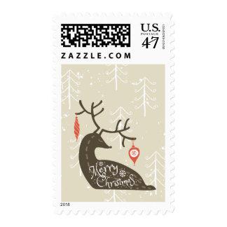 Merry Christmas Reindeer Cozy Postage