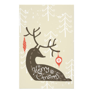 Merry Christmas Reindeer Cozy Stationery