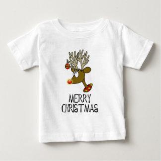 Merry Christmas Reindeer Infant Tee