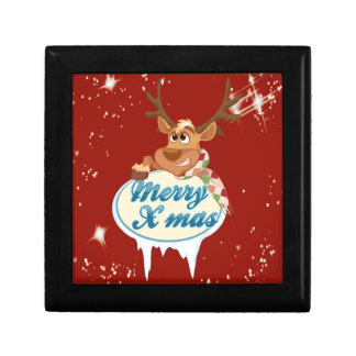Merry Christmas Reindeer Jewelry Box